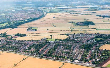 Aerial view of Tollerton